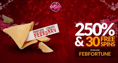 February Fortune Cookie Bonus from Slots of Vegas Casino