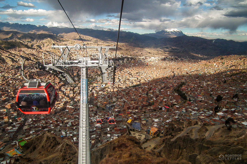Cable car in La Paz Bolivia