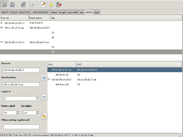 Relabeling attack with Loki on L3VPN MPLS