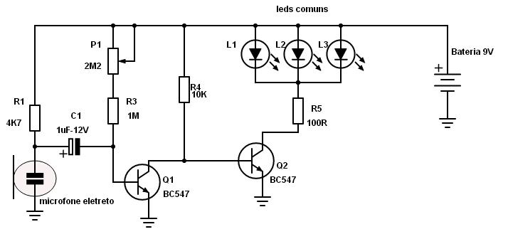 circuito de leds ritmicos simples  tecnomelque arduino