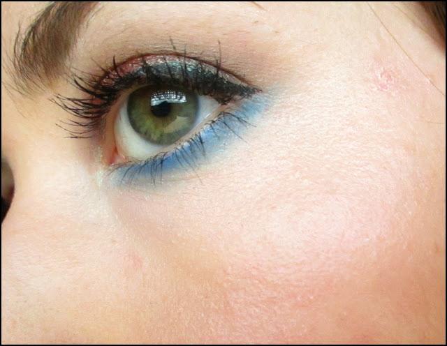 Blue & Brown Colorful Smokey Eye + Purple Lips