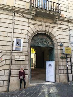 At the Archivio di Stato, Corso Garibaldi, Benevento.