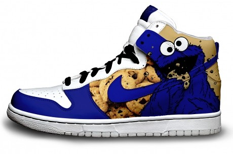 Buy Amazing Characters Shoes Cookie Monster Nike Air Force Ones
