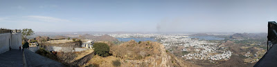 Panoramic view from Sajjan Garh Fort, Udaipur