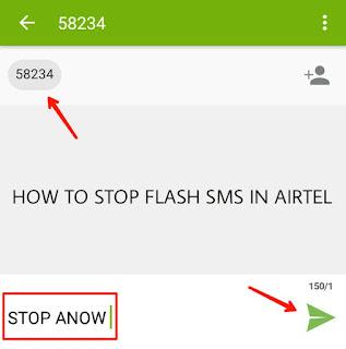 Flash sms kaise stop Kare airtel me