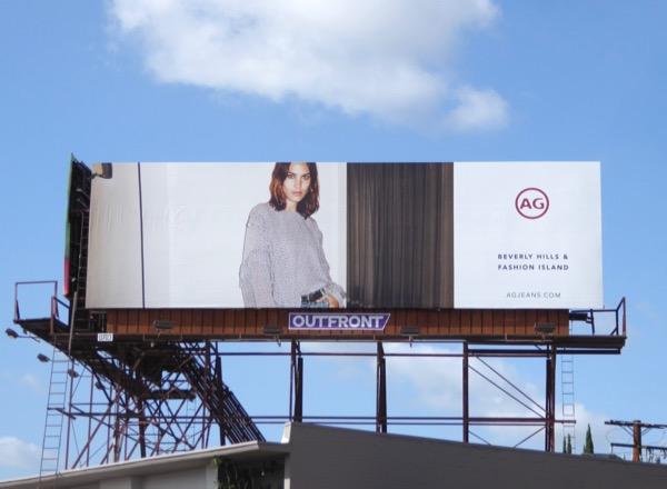 Alexa Chung AG Jeans FW17 billboard