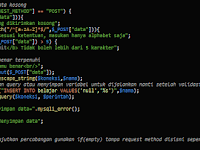 Validasi Form Input Menggunakan PHP