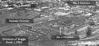 The four divisions of Boggo Road Gaol, Brisbane, 1956.