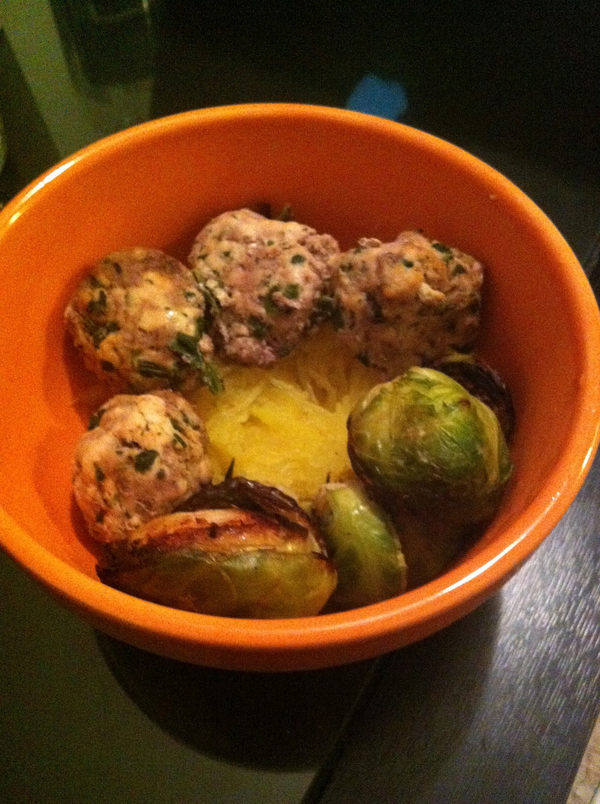 Turkey And Beef Meatballs With Spaghetti Squash And