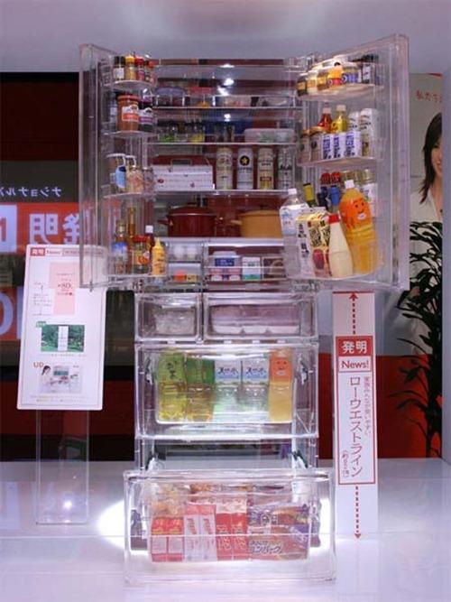 Refrigerador transparente