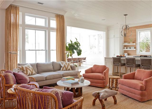 sofas en tonos rosados chicanddeco