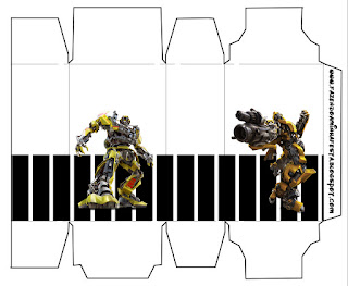 Transformers, Free Printable Box.