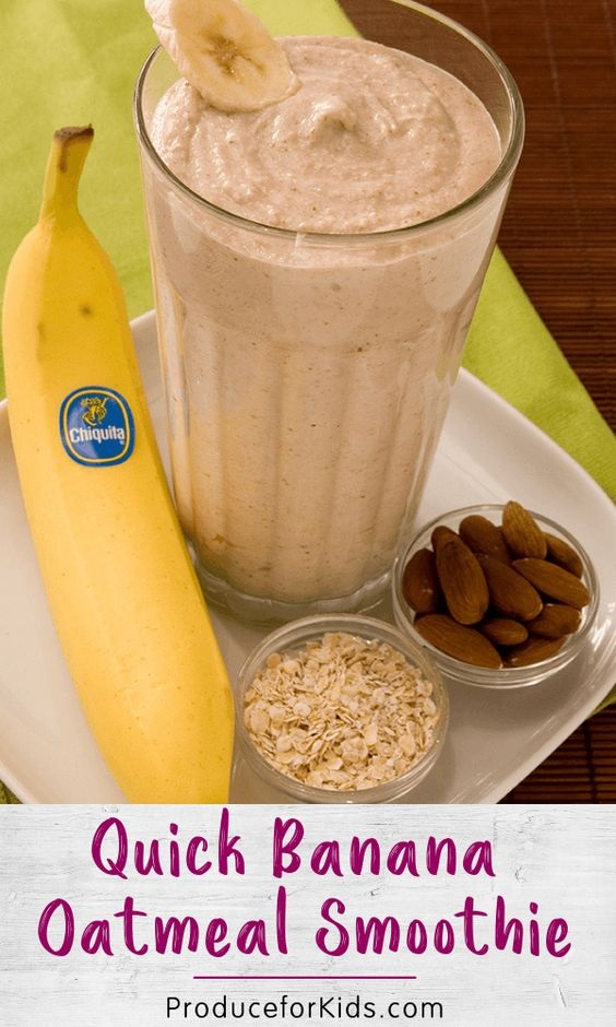 Quick Banana Oatmeal Smoothie