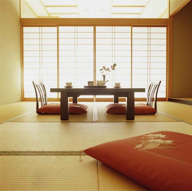 ديكورات غرفة جلوس يابانية