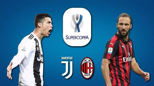 Pertandingan Piala Super Italia Malam Ini : Juventus VS AC Milan