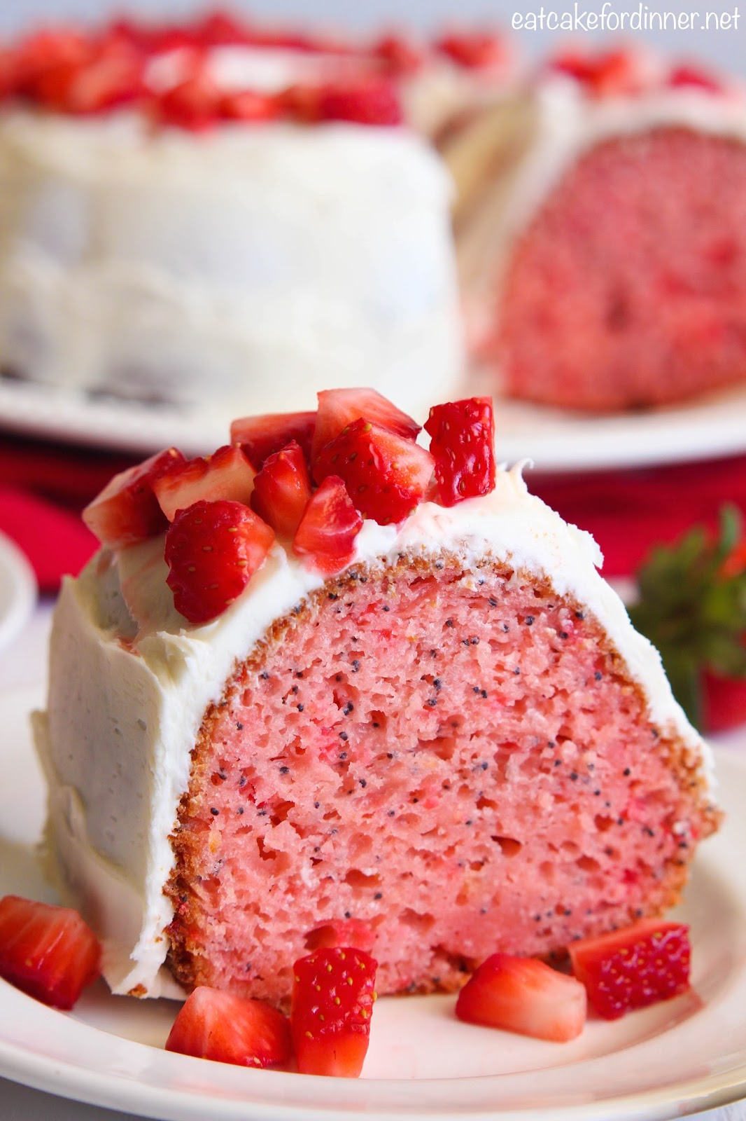 Strawberry Poppy Seed Bundt Cake
