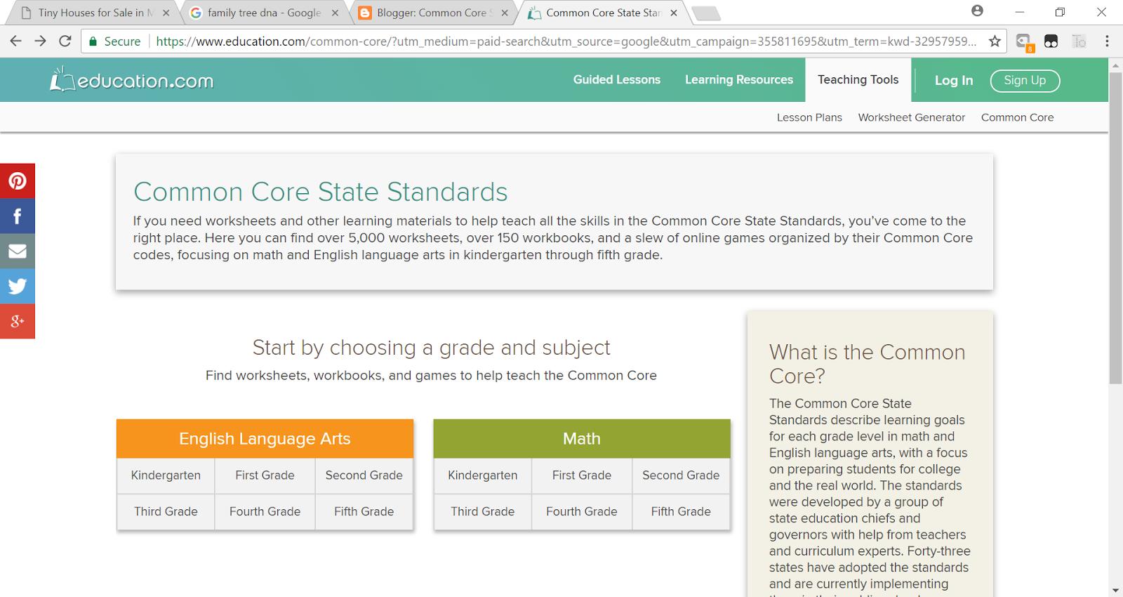 NCSM CCSSM Curriculum Analysis Tool | Common Core State Standards CCSS