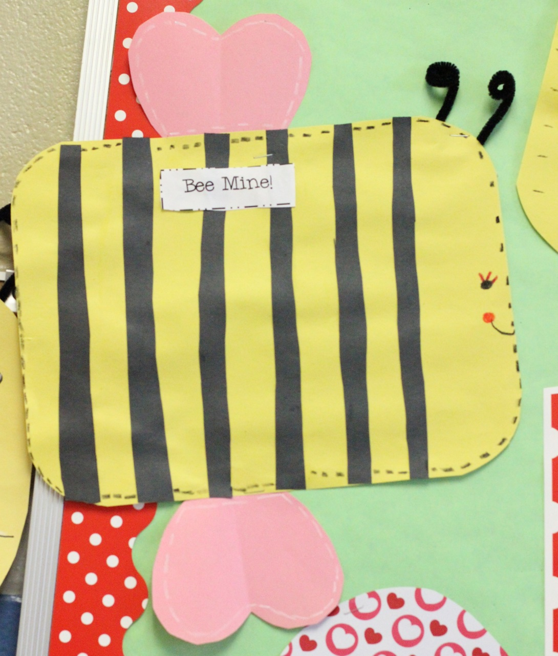 First Grade Blue Skies Bumble Bee Mine Easy Valentine Craft