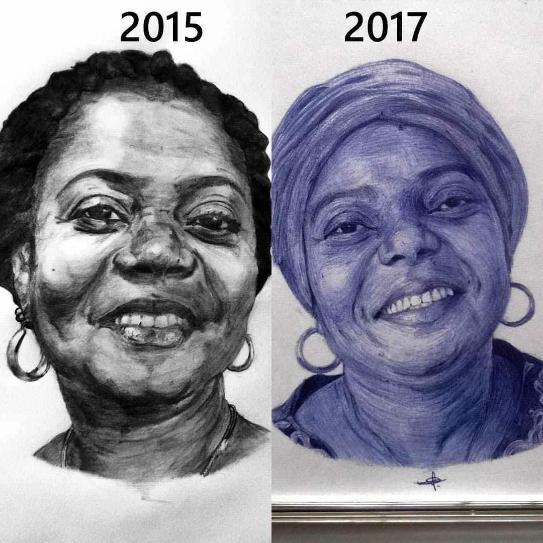 08-Drawing-Progress-Larry-Tamara-Ballpoint-Pen-Portraits-Progression-Drawings-www-designstack-co