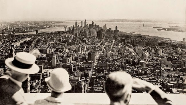 historic photography View from the top on the opening day of the Empire State Building 1931