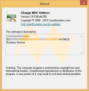 Change MAC Address 2.8.0 Build 95