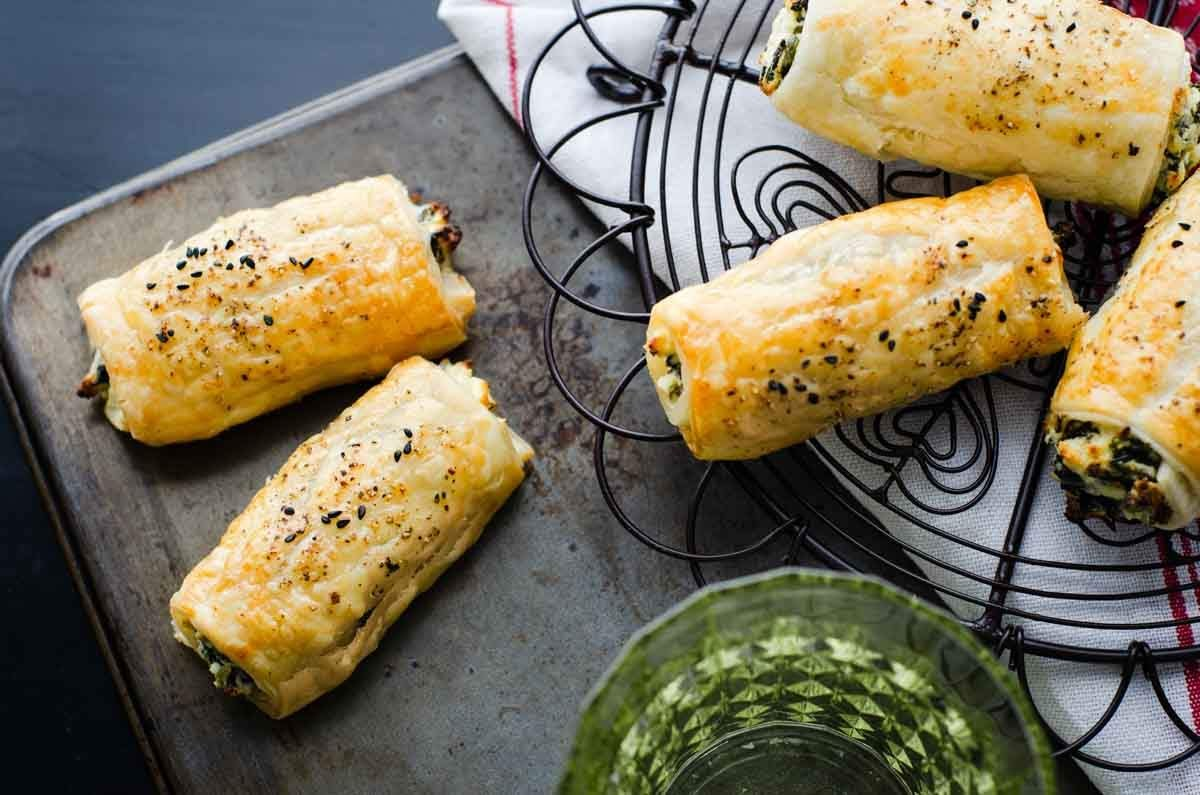 TAsty and Easy Feta Ricotta Spinach Rolls recipe