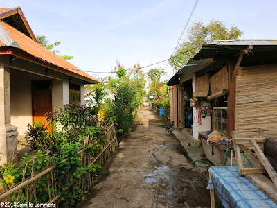 The village in Gili Air, Indonesia
