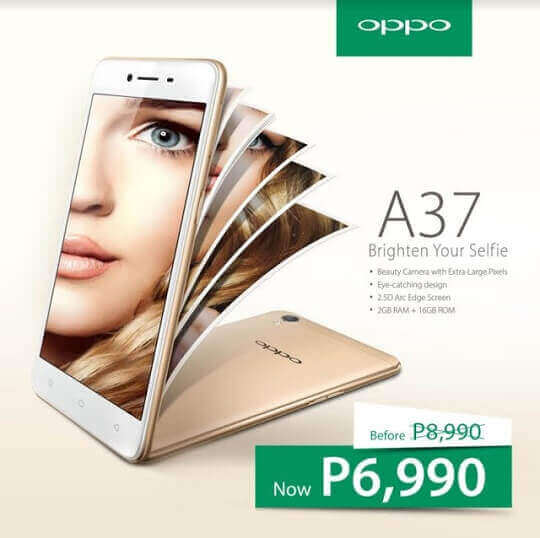 OPPO A37 Gets A Huge Price Cut, Now Only Php6,990