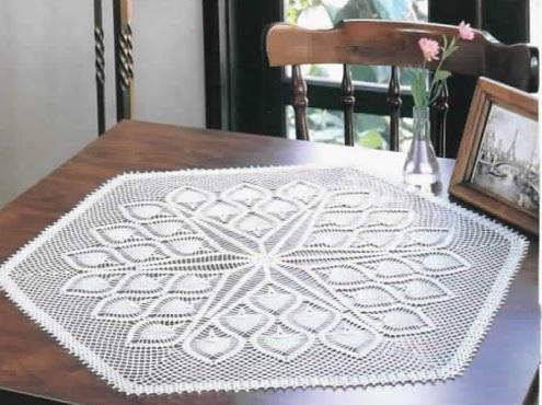 Le crochet des8jika la beaut du crochet au milieu de votre table for Centre de table de cuisine