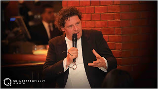 Marco Pierre White addresses guests at the private Quintessentially Lifestyle dinner