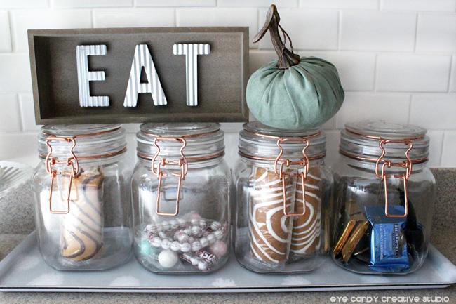 fall kitchen decor, kitchen project, eat sign, fall pumpkin decor, pumpkins
