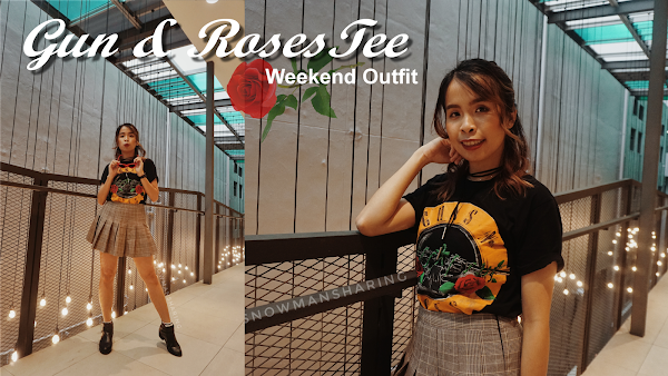 Guns and Roses Top Weekend Outfit #97