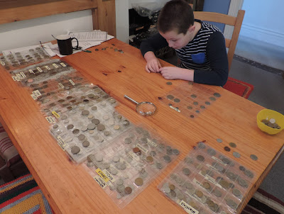 young numismatist coin collection
