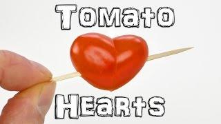 Як зробити томатне сердечко?