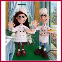 Cocineros amigurumi