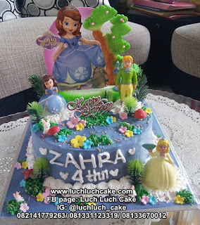 Birthday Cake Princess Sofia The First Ungu