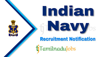 Indian Navy Recruitment 2019, Indian Navy Recruitment Notification 2019, Latest Indian Navy Recruitment 2019
