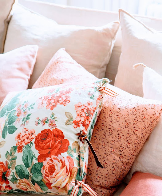 beautiful pillow floral