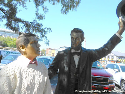 Abe Lincoln Statue in Downtown Gettysburg Pennsylvania
