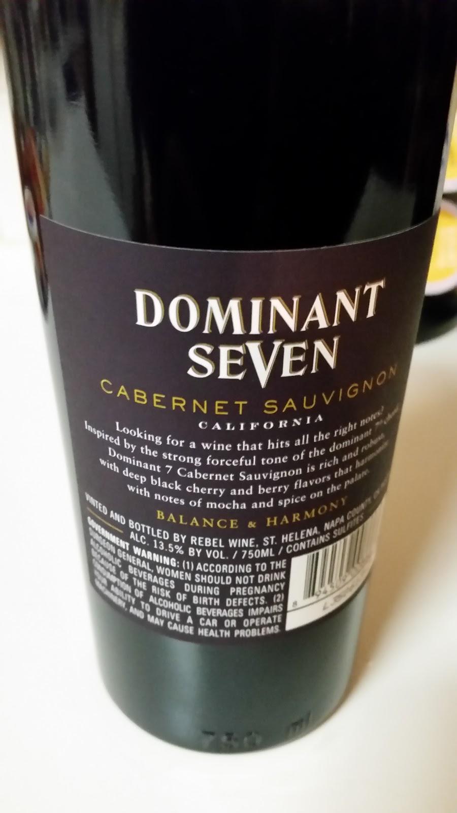 The Winos Wine Guide Dominant Seven Cabernet Sauvignon