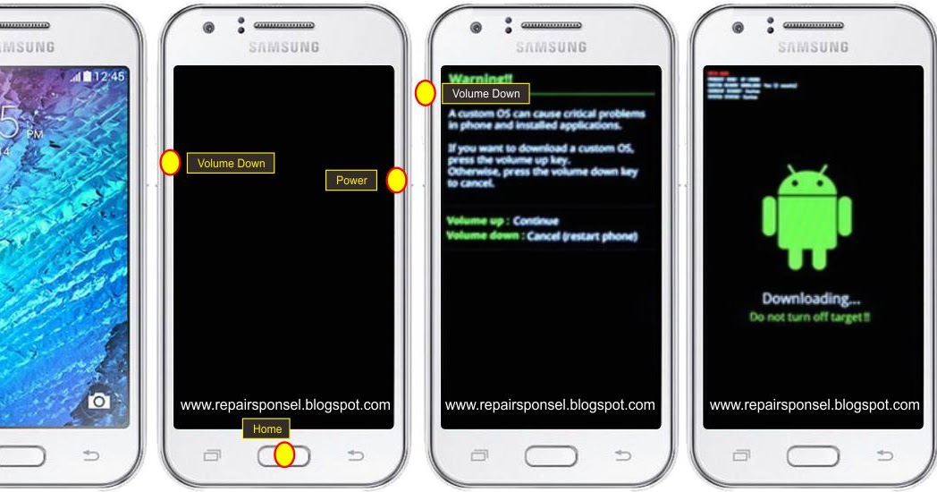 Tutorial Cara Flash Samsung Galaxy J1 Ace J110G