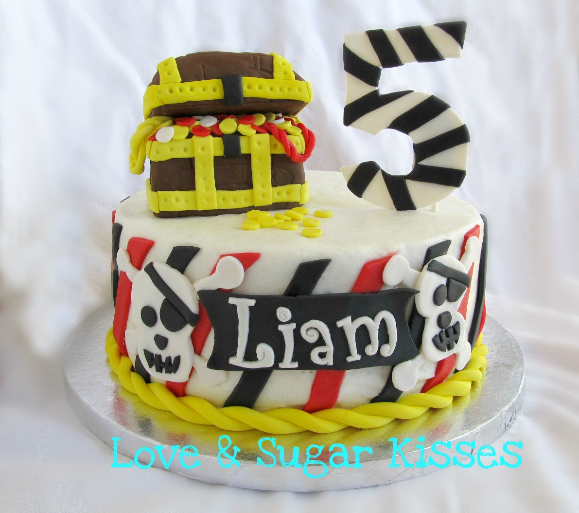 Love Sugar Kisses Pirate Birthday Cake For Icing Smiles