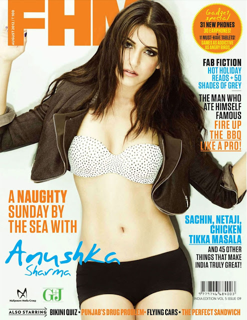 Anushka Sharma in FHM India Magazine 2012