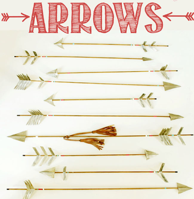 how to make rustic decorative arrows