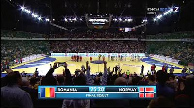 Scor final Romania 25 - Norvegia 20