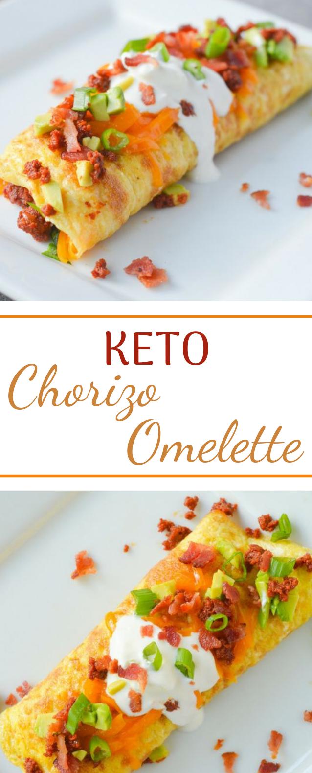 Keto Chorizo Omelette #breakfast #diet