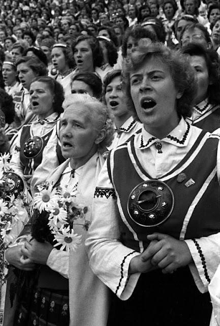 Dziesmu svētki 1960. gadā. Foto - Dominiks Gedzjuns