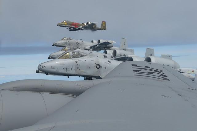 USAF KC-135 A-10 F-16 Saber Strike