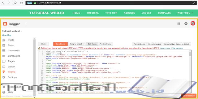 Cara Mudah Edit Template Blogspot Bagi Pemula