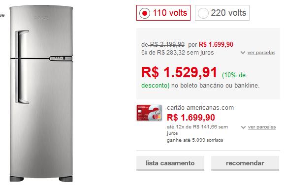 http://www.americanas.com.br/produto/124255267/geladeira-refrigerador-frost-free-brastemp-clean-brm39-352-litros-platinum?opn=YYNKZU&franq=AFL-03-117316